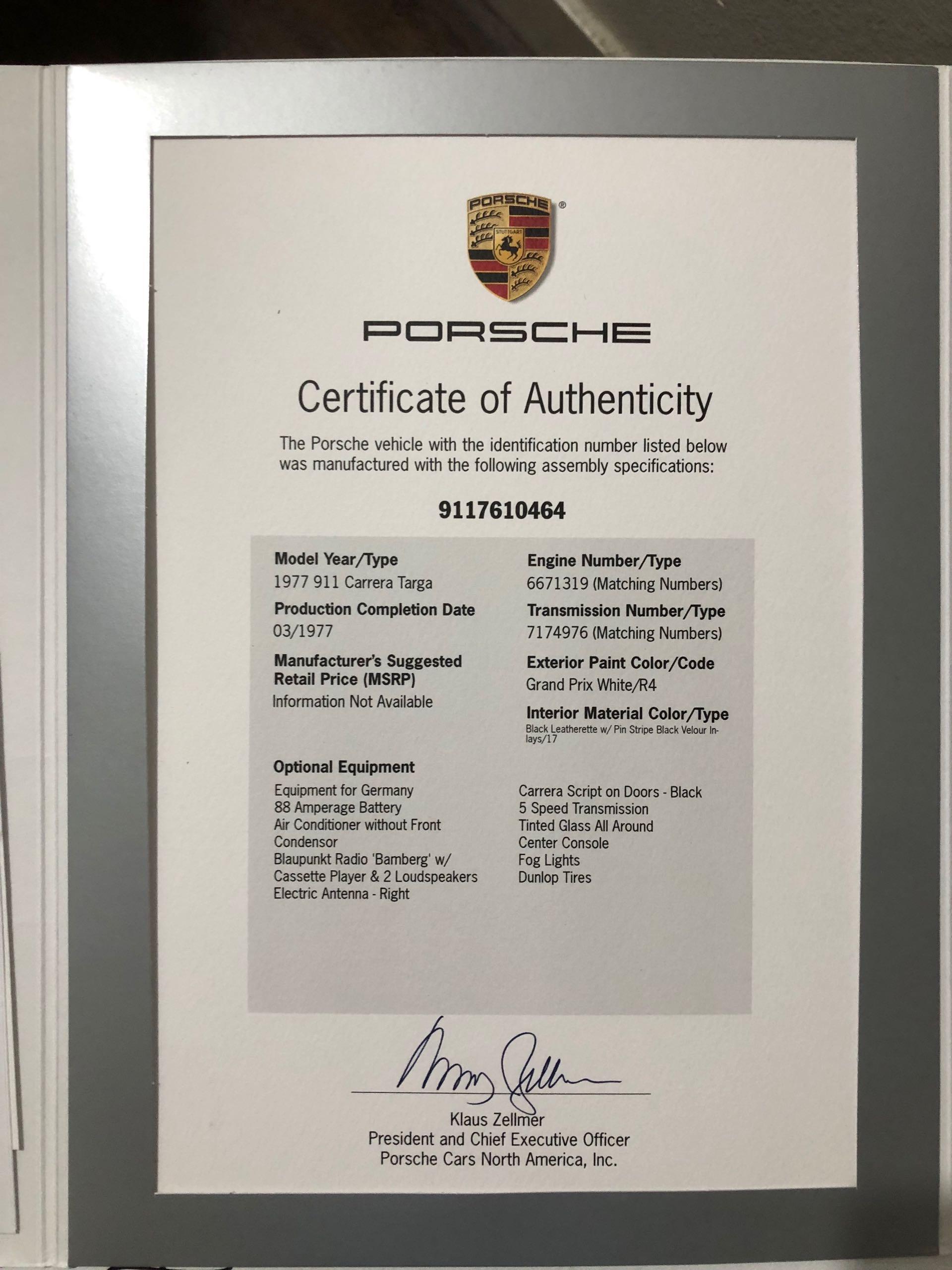 Used 1977 Porsche 911 Carrera