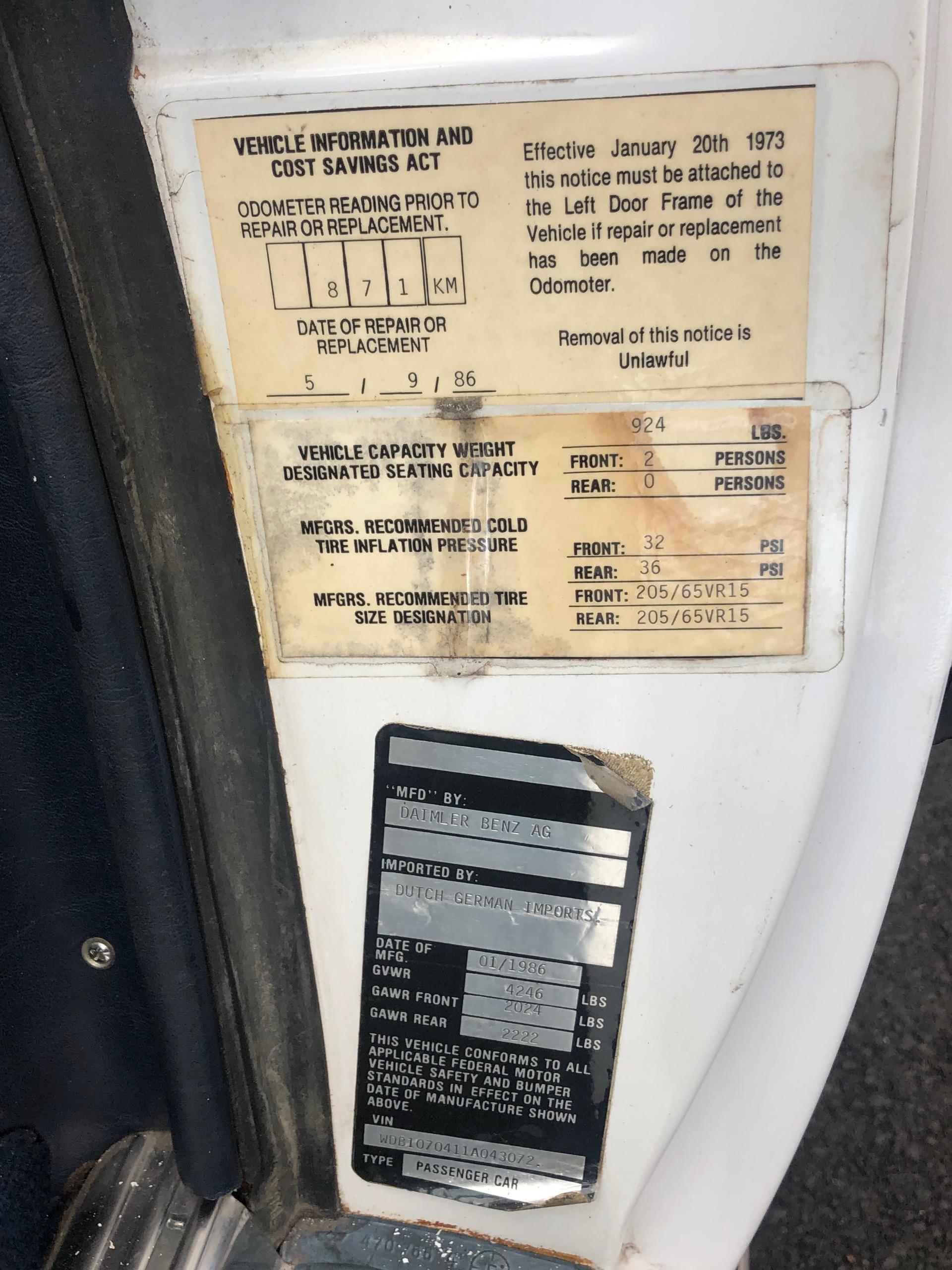 Used 1986 MERCEDES BENZ 300SL